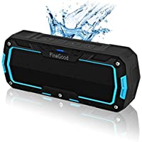 Bluetooth Speakers V4.1 Portable Wireless Sound Box, Water Resistant IPX5, 10W, 2000mAH battery, 6+ hours Play Time for Shower Home - Black+Blue
