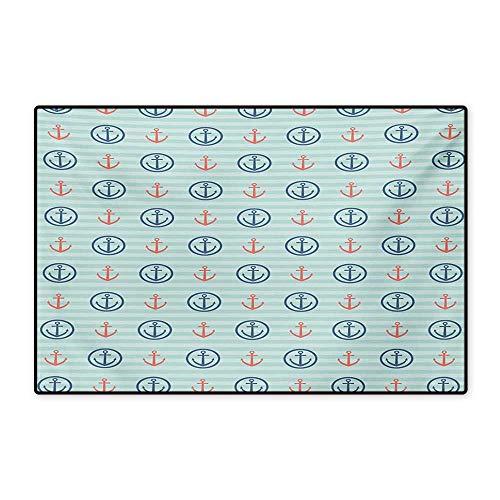 Inside Summer Holiday Adventure Horizontal Striped Backdrop with Icons Bon Voyage Floor mat Bath Mat 20