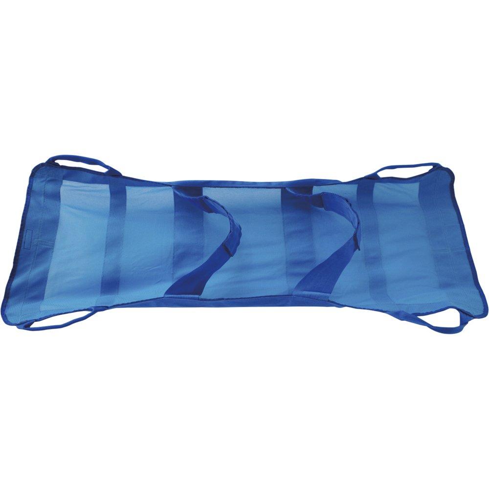 松本義肢製作所 らくちんモック (青色) M:125×55cm(適応身長160-170cm、100kg迄) 軽量携帯型ナイロンメッシュ担架 B00CW84YE6
