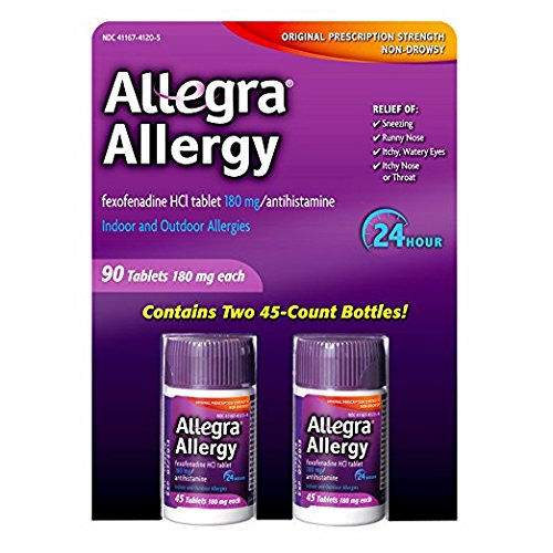 Allegra 180mg Adult 24-Hour Allergy Tablets, 90 ct. by Allegra
