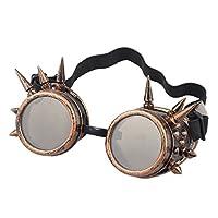 Agile-shop Spiked Retro Vintage Victorian Steampunk Gafas Gafas Soldadura Cyber Punk Gótico Cosplay