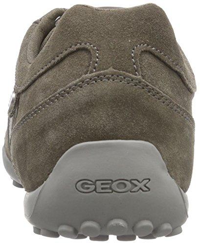 Geox Uomo Snake E, Men's Low-Top Sneakers Grey - Grau (Dove Greyc1018)