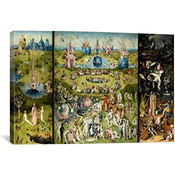 24x36 Hieronymus Bosch Garden Of Earthly Delights Art Print Poster Art Poster