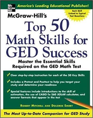 Mcgraw hills top 50 math skills for ged success robert bob mcgraw hills top 50 math skills for ged success 1st edition fandeluxe Choice Image