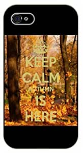 For Iphone 6Plus 5.5Inch Case Cover Keep calm and autumn is here - black plastic case / Keep calm, funny, quotes