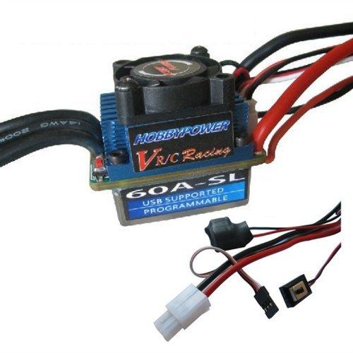 Hobbypower Racing 60A SL V2 Brushless ESC for 1/10 Car