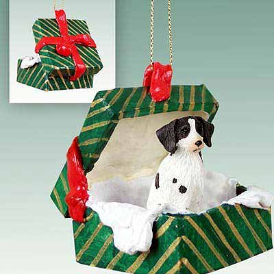 - Conversation Concepts Brittany Liver & White Spaniel Gift Box Green Ornament
