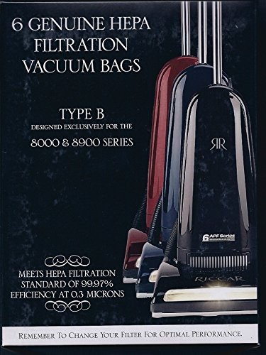 Riccar Hepa Bags 6 Pack Genuine RBH-6