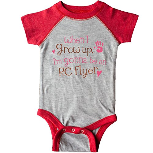inktastic Future Girls RC Flyer Infant Creeper Newborn Heather and Red