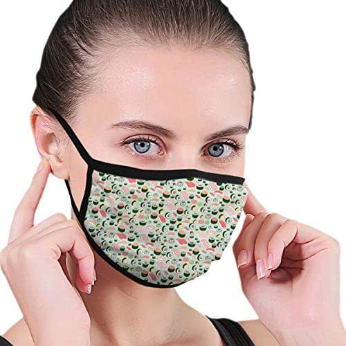 YongColer Fashion Earloop Mouth Mask, Anti-Dust Anti Flu Pollenm Mouth-Muffle with Adjustable Elastic Band - Windproof Japanese Happy Sushi Family Half Face Mouth Mask
