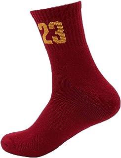 Men's Tube Socks Basketball Socks Cotton Socks Sports Socks Sweat-Absorbent Anti-Slip Shock Socks,White,Men39~44 MISS&YG