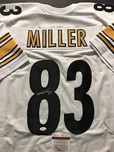 Autographed/Signed Heath Miller Pittsburgh White Football Jersey JSA ()