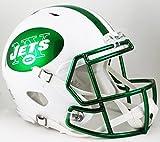 NFL New York Jets 2015 Chrome Full Size Speed Authentic Helmet, Small, White