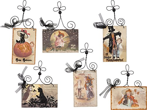 PBK Halloween Decor - Vintage Wood Signs Postcard 6pc Set #30326