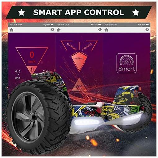 RCB Hoverboards SUV Scooter Auto-équilibré électrique Tout Terrain 8.5 » Gyropode Hummer Bluetooth APP + Hoverkart Go Kart pour Gyropode