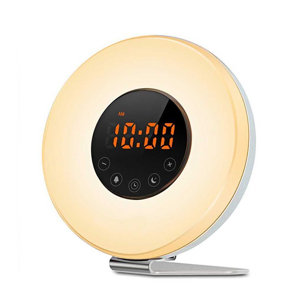COULAX Wake Up Light Despertador Luz LED Despertador Colores sonidos de la