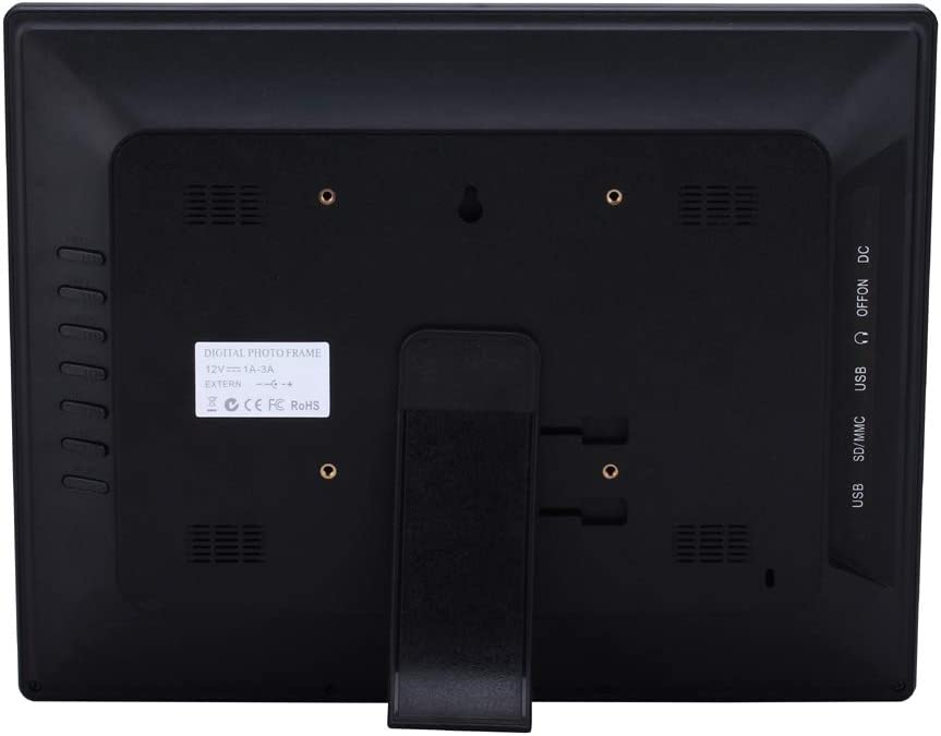 Black Lihuoxiu Consumer Electronics 14 inch High-Definition Digital Photo Frame Electronic Photo Frame Showcase Display Video Advertising Machine Color : Black