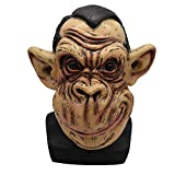 LED Halloween Full Face Horror Masks, Elevin(TM) Scary Zombie Latex Mask With Hair Cosplay Helmet Halloween Costume (C)