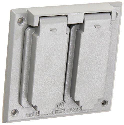 Morris 37220 1 GFCI and 1 Duplex Receptacle 2-Gangs Weatherproof Cover by Morris (Image #1)