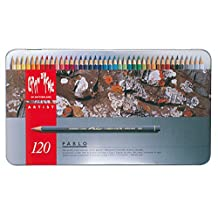CREATIVE ART MATERIALS Pablo Colored Pencil Set Of 120 Metal Box (666.420)