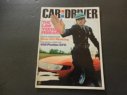 Car And Driver Jan 1970 Ferrari; Boss 302 Mustang; 455 Pontiac GTO 1970 Ferrari