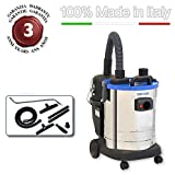 EOLO PROFESSIONAL VACUUM CLEANER FOR CONSTRUCTION SITES WITH BLOWING + ACCESSORIES KIT LP35 MADE IN ITALY 230 Volts (before order on request 110-120 Volts)