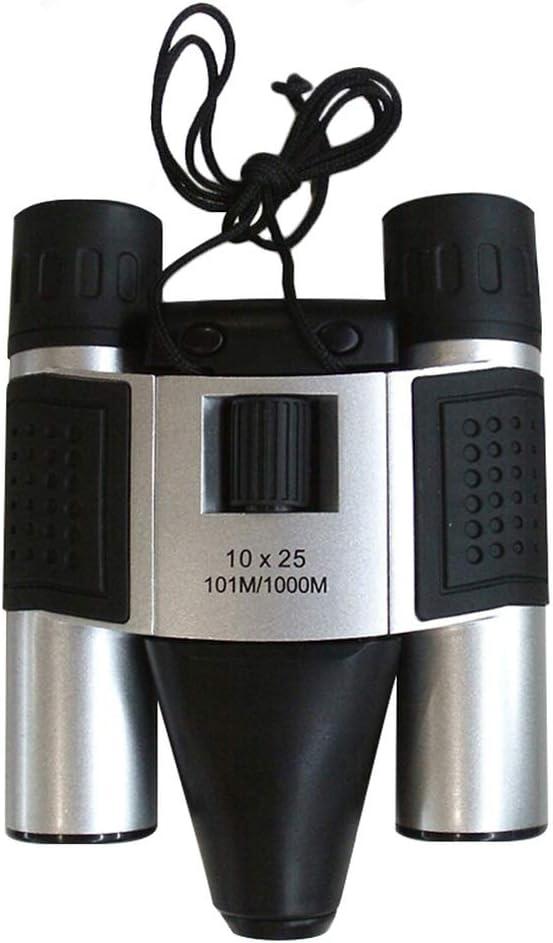 JSX Telescopio del Zumbido De La Cámara De 1,3 MP 10X25 Prismáticos Digitales CMOS Sensor 101M / 1000M USB para El Turismo Que Busca Photo Grabación De Vídeo DVR