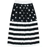 UZULAND(ウズランド) 80cm丈 キッズ用 ラップタオル 巻きタオル プールタオル 星条旗柄ブラック