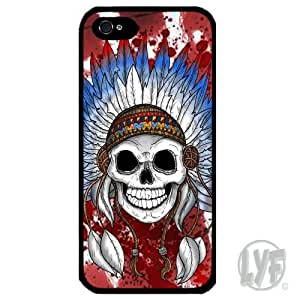 Cover for Iphone 4 4S Skull Native American Indian Feather Headdress Phone case