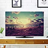 PRUNUS Dust Resistant Television Protector Beach Sunset Scenery.Phuket Island.Thailand Travel tv dust Cover W19 x H30 INCH/TV 32''