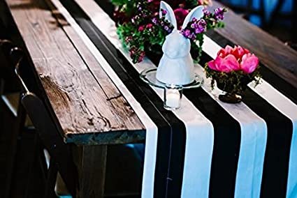 Incroyable Lovemyfabric Poly Cotton 2 Inch Striped Table Runner For Wedding/Bridal  Shower Birthdays Home Decor