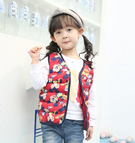 Vest Kids Wadded red Lightweight Outfits Jacket Lemonkids;® Warm mickey Cartoon Children f5qwnSY