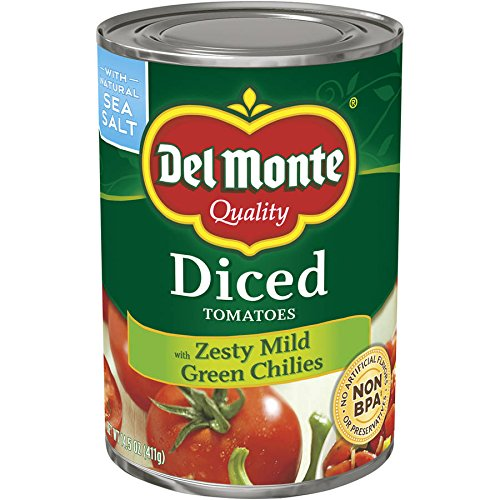 DEL MONTE Diced Zesty Chili Style Tomatoes, 14.5 oz