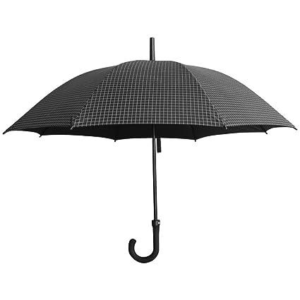 Paraguas con Mango Largo Nuevo para Hombre Paraguas con Paraguas Negro Creativo Resistente al Viento Fuerte