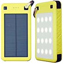 Solar Charger, ZeroLemon 26800mAh SolarJuice USB-C/QC3.0 Portable Solar Battery Charger with Waterproof/ Shockproof Solar Power Charger for iPhone, Samsung, Android phones, Windows phones and More