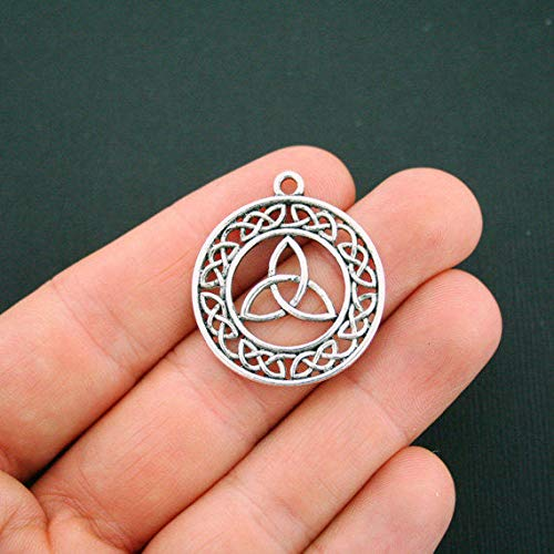 (Extensive Collection of Charm 4 Celtic Knot Pendant Charms Antique Silver Tone Triquetra Trinity - SC5633 Express Yourself)