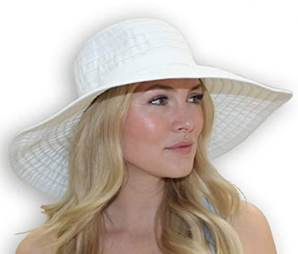 8ab77ca4a98b2 Women s Wide Brim Packable Sun Travel Hat for Large Heads - Ginger (Medium