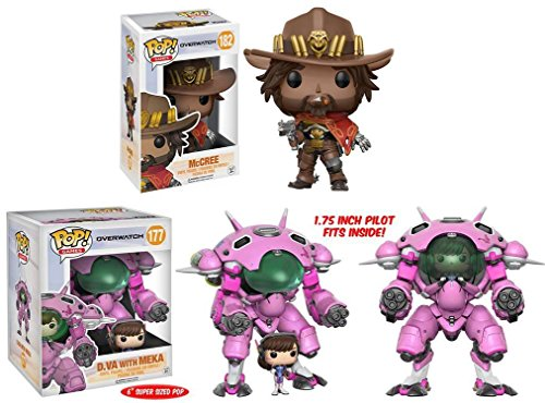 Funko POP! Overwatch McCree + D Va w/ MEKA - 6 – Video Game Vinyl Figure NEW