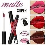 Hunputa Lipstick,Women Professional Double-end Matt Lasting Waterproof Lip Lipstick Sponge Head (12PCS)