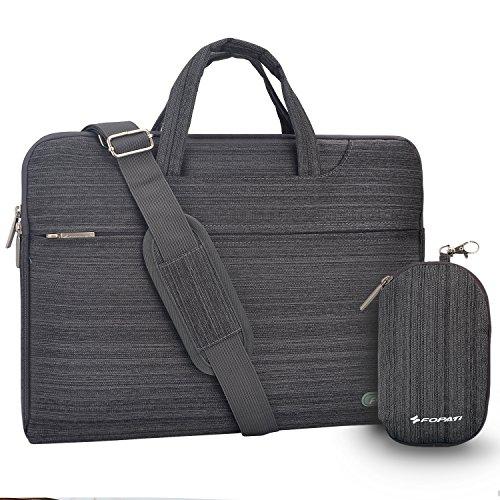 Laptop Shoulder Bag, 12-13.3 inch Laptop Case, Slim Briefcase Computer Bag Business Carry Bag Waterproof Notebook Messenger Bag Sleeve for MacBook Lenovo ASUS Dell Acer Samsung Chromebook 13 -Grey