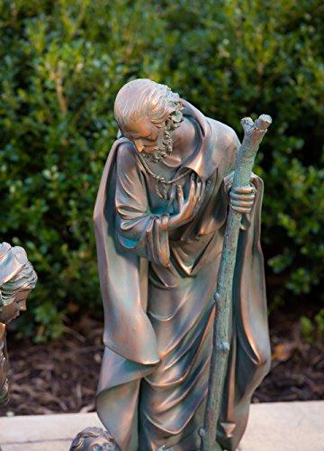 Evergreen 3-Piece Bronze Finish Mary, Joseph and Baby Jesus Outdoor Safe Garden Nativity Set by Evergreen Flag & Garden (Image #5)