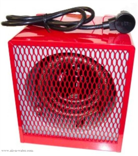 "Dayton 11-1/2"" x 11-1/2"" x 15-7/8"" Fan Forced Electric Space Heater"