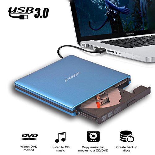 JOKDEER USB 3.0 External DVD-RW Drive Burner All-aluminum Ul