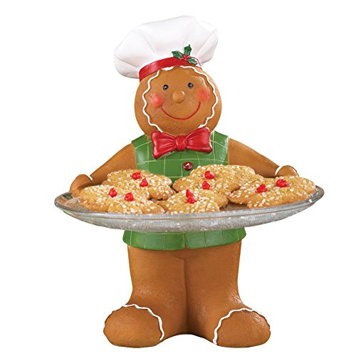 Christmas Gingerbread Baker Treat Serving Tray, 10