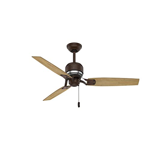 Casablanca Indoor Ceiling Fan, with pull chain control – Tribeca 52 inch, Industrial Rust, 59499