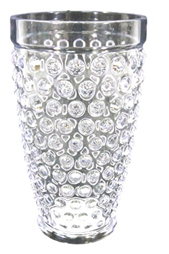 Hobnail Clear Glass - Hobnail Raised Bump Tumbler Glass Plastic 16 Ounces Clear Set of 4