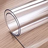 OstepDecor Custom 2mm Thick 53 x 29 Inch Clear Table Cover Protector, Desk Cover Plastic Table Protector Clear Table Pad Tablecloth Protector, Clear Desk Pad Mat for Writing Desk, Countertop 6ft