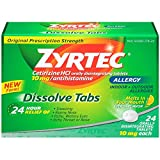 Zyrtec Citrus Allergy Dissolve Tab - 24 per pack -- 24 packs per case.