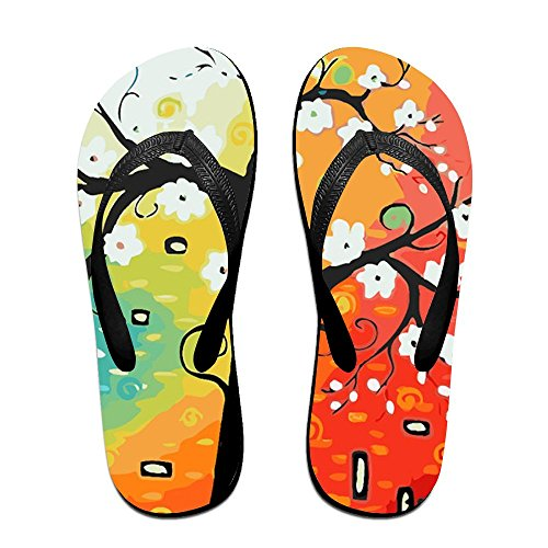 Slippers Tree Colorful Men Flip Life PTJHKET Luck Flops Good Kids Black Women For 1qgcOx