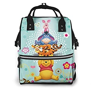 NHJYU Diaper Bag Backpack – Winnie The Pooh Bear Multifunction Waterproof Travel Backpack Maternity Baby Nappy Changing…